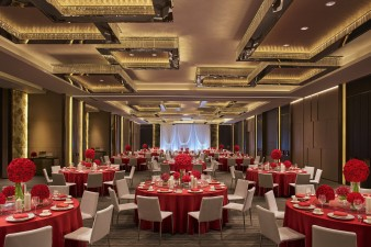 New World Wuhan Hotel - Ballroom Wedding Setup